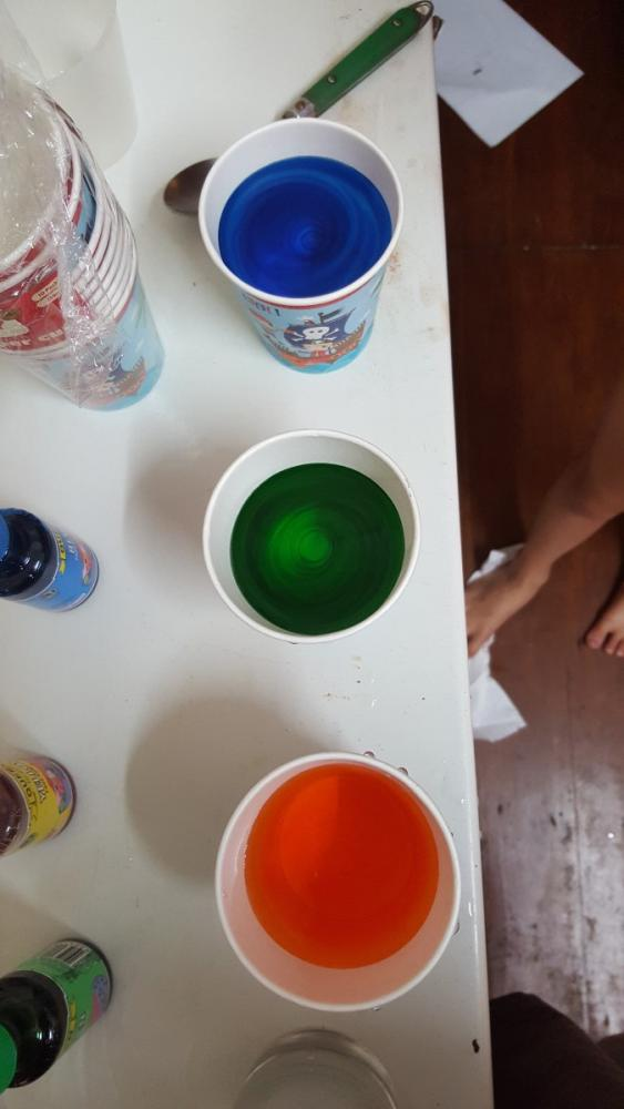 Coloured water for 10yo's science experiment