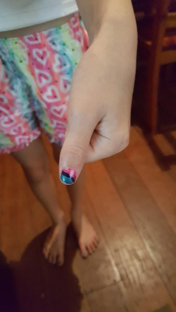 10yo with fingernail art