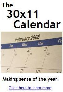 30x11 calendar promo banner from the website