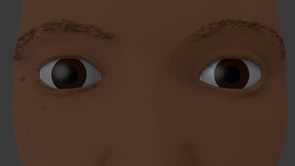 Blender 3d eyebrows and eyelashes