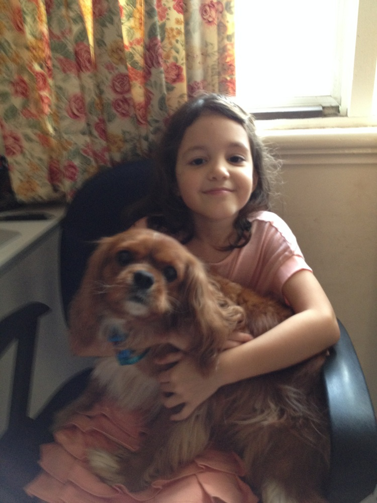 7yo and her spaniel