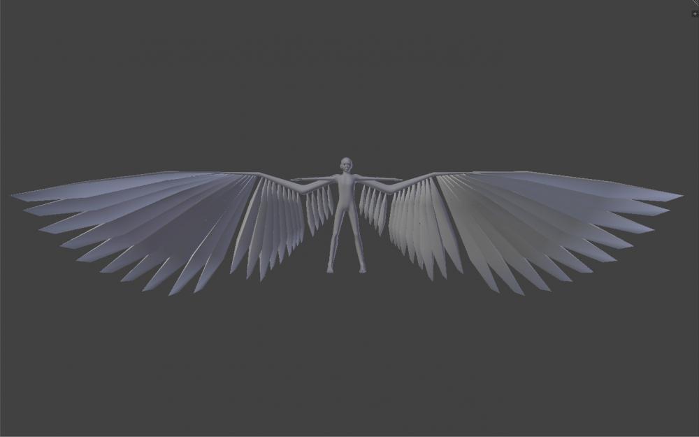 Blender Avian model with 10m wingspan