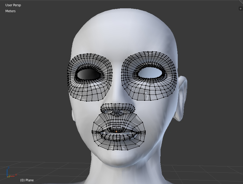 Base head retopo