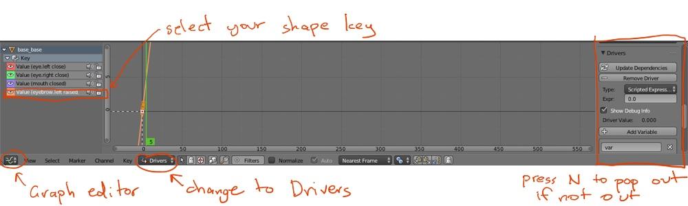 Blender 2.74 Graph Editor settings for bone drivers