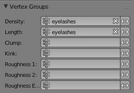 Blender hair setting weight maps to control hair settings