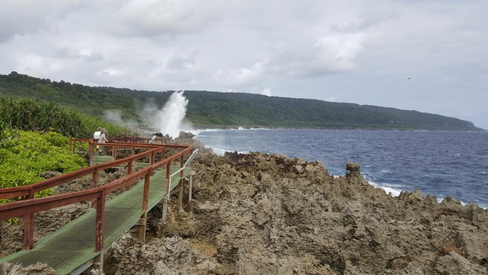 Other side of the walkway, Blowholes, Christmas Island