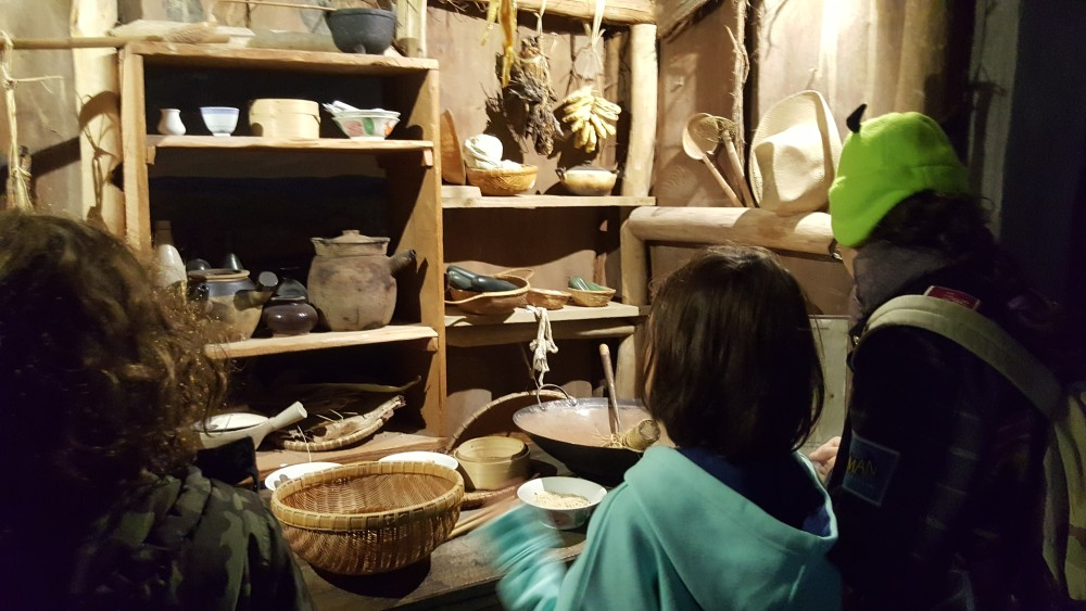 Checking out a food stall in the gold rush exhibition, Chinese Museum, Melbourne, Australia