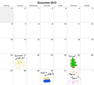 quick and dirty calendar month page for dec2010 that I knocked up for a blog post that got eaten by my last provider