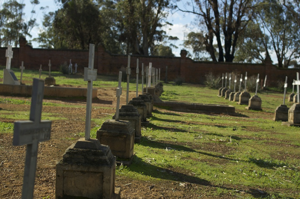 Monk graves at New Norcia cemetary, New Norcia, Western Australia