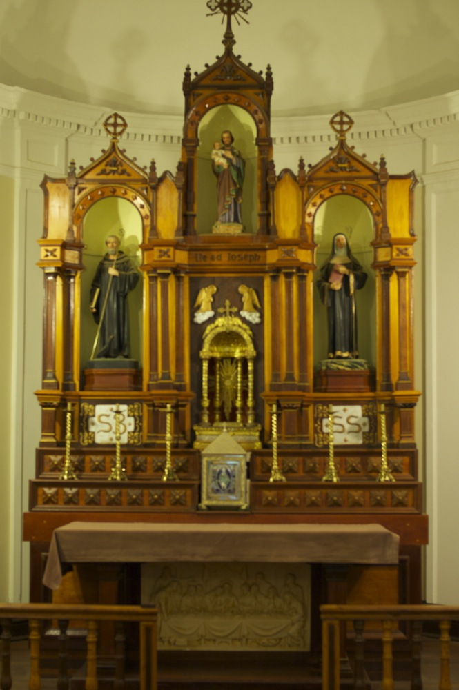 Chapel altar on the third floor of the museum at New Norcia, Western Australia