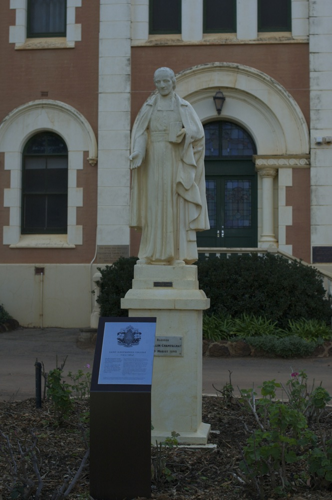 Statue at the front of St Ildephonsus