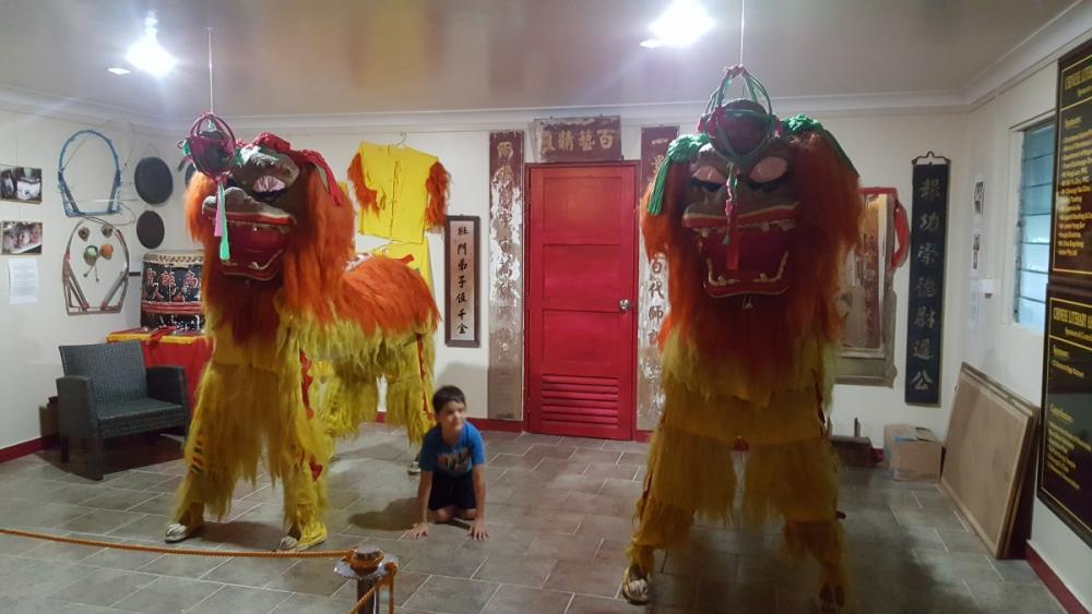 Northern lions at Chinese Cultural and Heritage Museum, Christmas Island