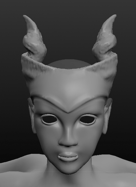 Roughed twisty horns