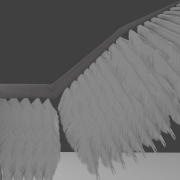 Blender Avian with particle feathers