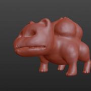 3d bulbasaur sculpt done in Blender