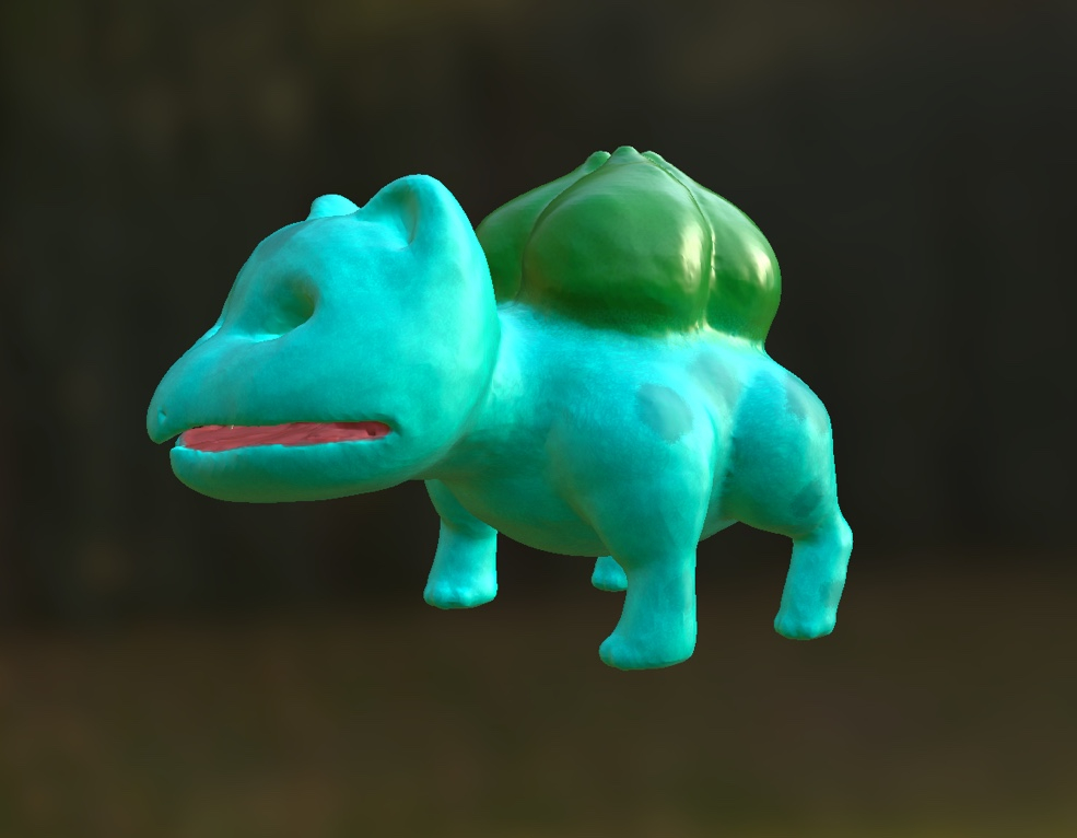 3d bulbasaur