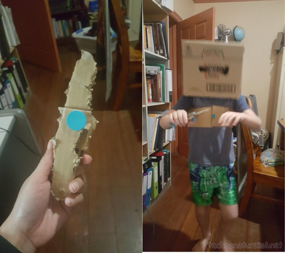 9yo-cardboard-box-armour-knife