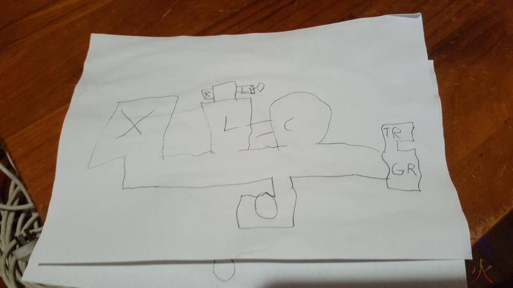 9yo's interpretation of a map of the house