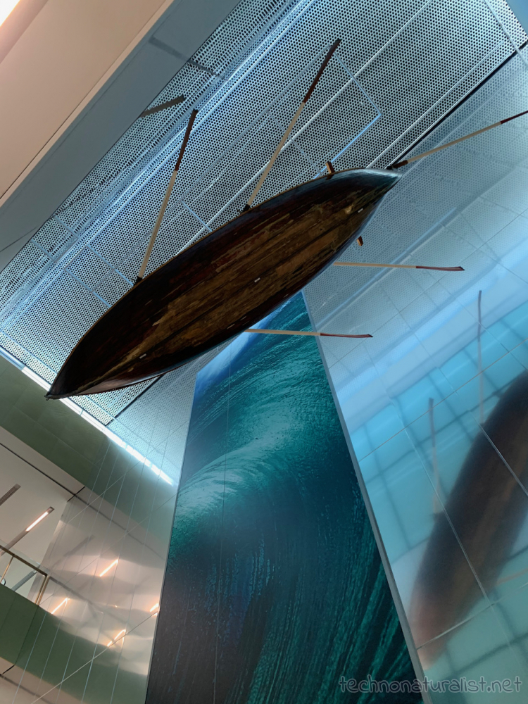 boat hanging from the ceiling in Boola Bardip Museum, Perth, Western Australia