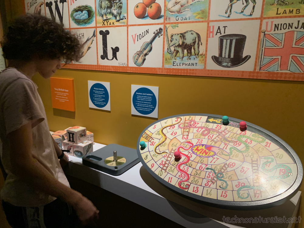 16yo checking out oldschool toys and games at Boola Bardip Museum, Perth, Western Australia