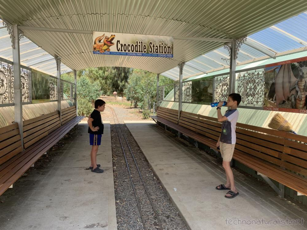 station for miniature train, Cohunu Koala Park, Western Australia