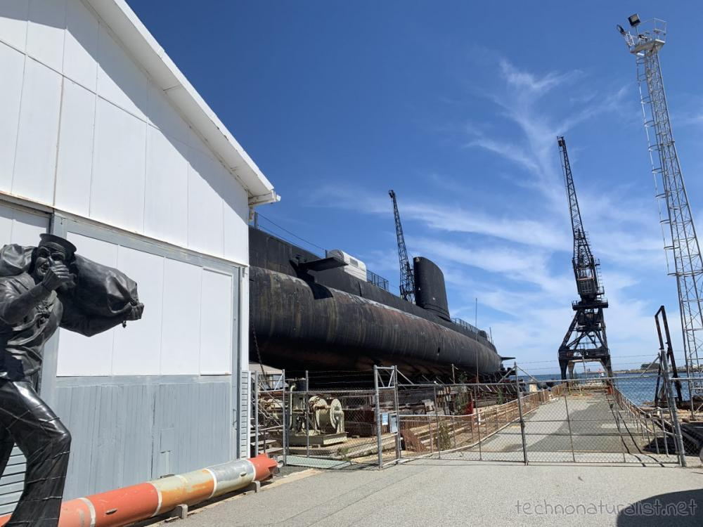 HMAS Ovens at Maritime Museum in Fremantle, Western Australia