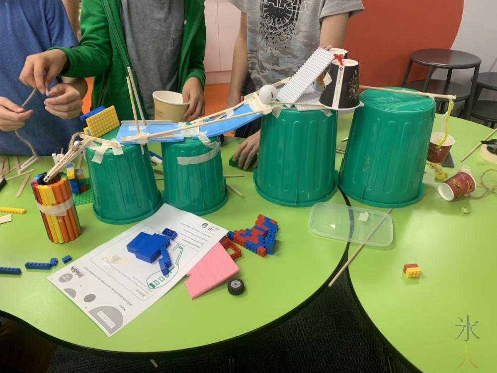 building Rube Goldberg machine at Scitech, Perth, Western Australia