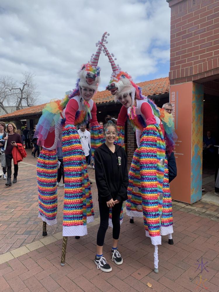 Tall unicorns at Curtin University, Western Australia