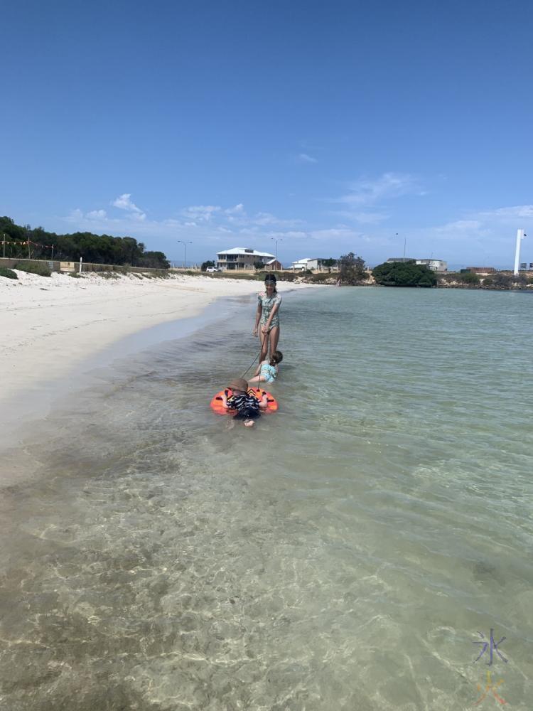 12yo with cousins at Jurien Bay, Western Australia