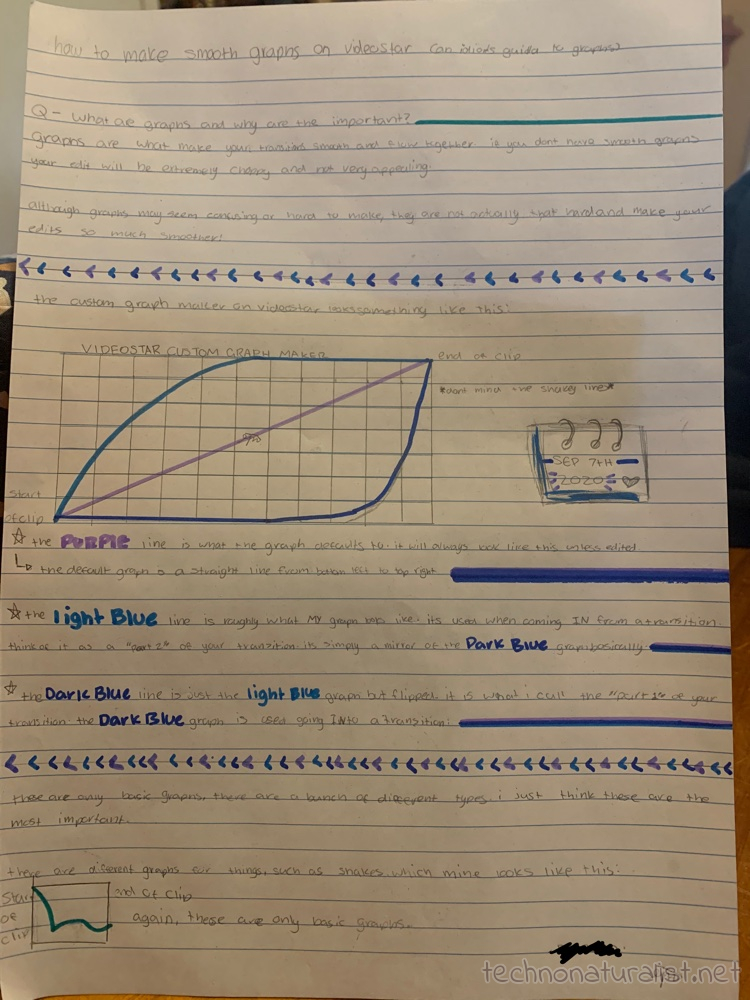 13yo's explanation of how to use graphs to make smooth transitions