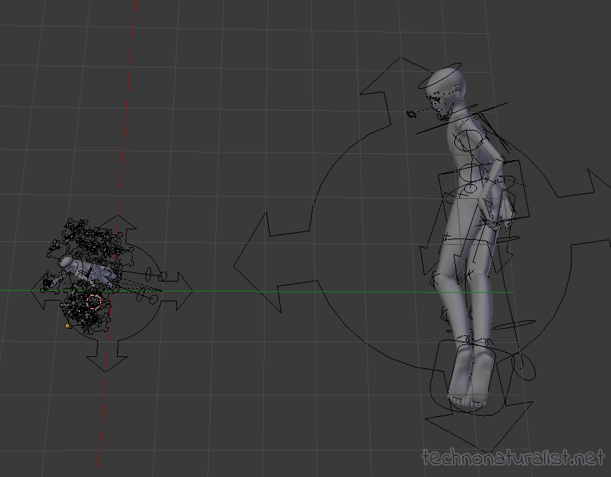 mer bases in Blender top view to show more accurate size comparison