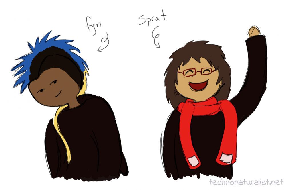 super stupid cartoony fyn and Sprat