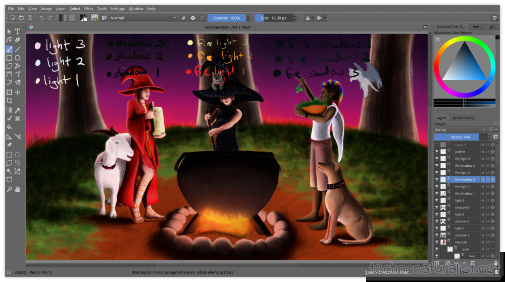 witchies Krita painting wip