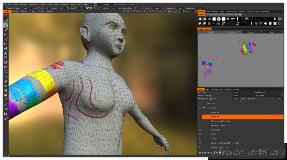 polyflow guidelines on 3d character