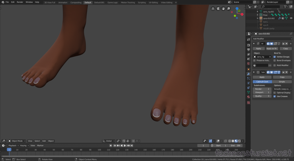 Zara toenails done