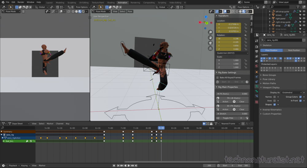 Zara flying kick!