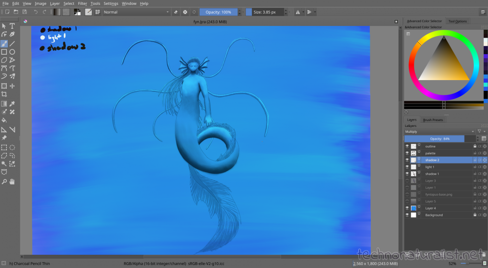 Twilight sea dragon wip