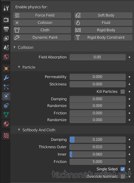 Blender 2.8 collision settings for character body