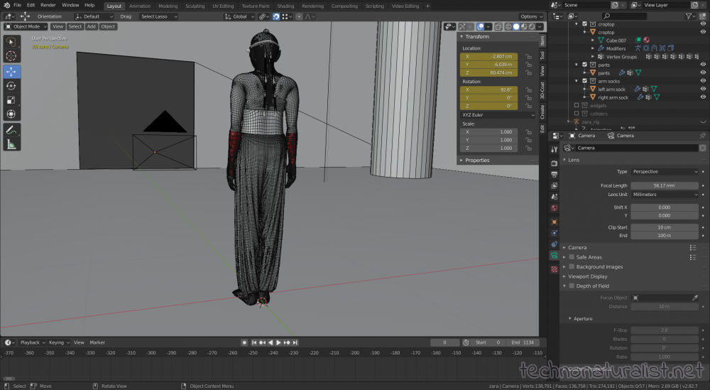 Blender 2.8 wireframe on to show mesh densities