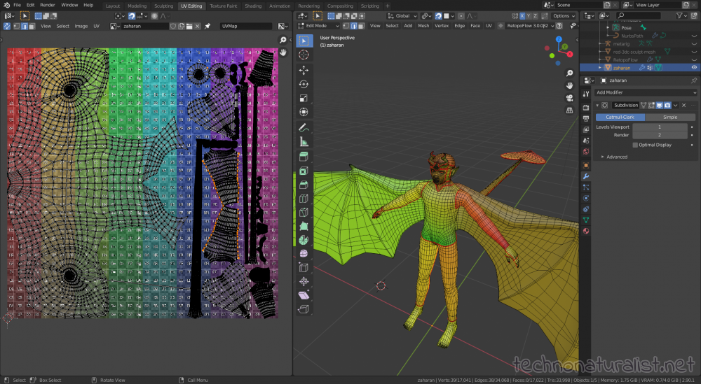 uv unwrapping in blender 2.9 yay