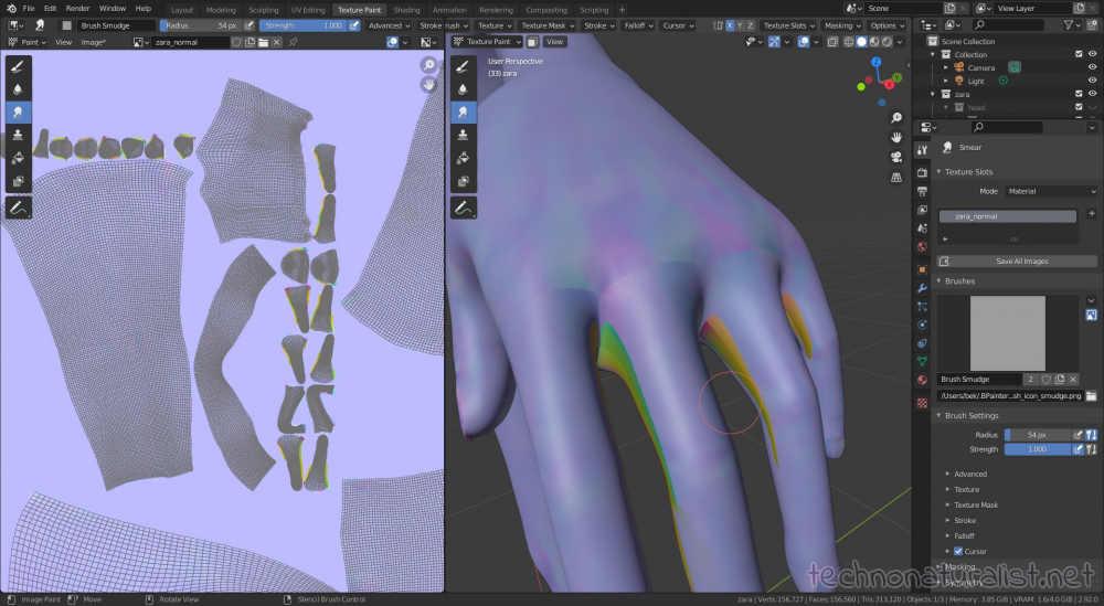 painting out uv seams and bake shenanigans in Blender 2.92