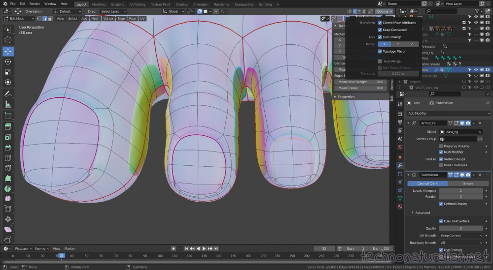 lining up topology with uv map in Blender 2.92