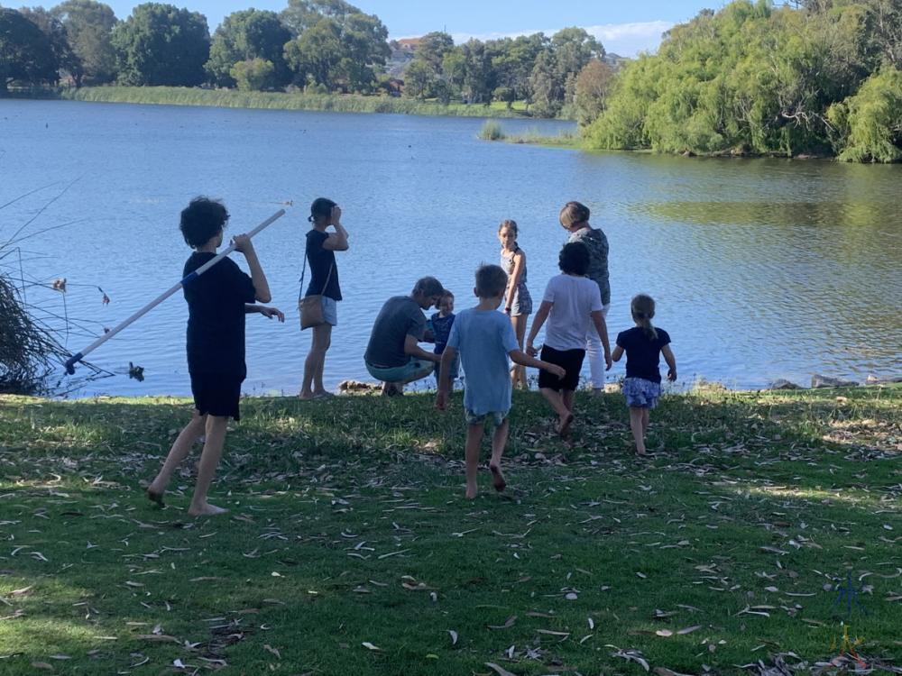 kids at Jack Adder Lake