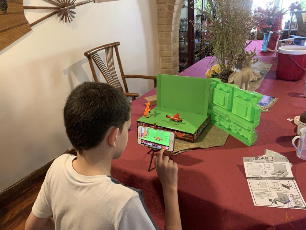 13yo playing with Stikbots
