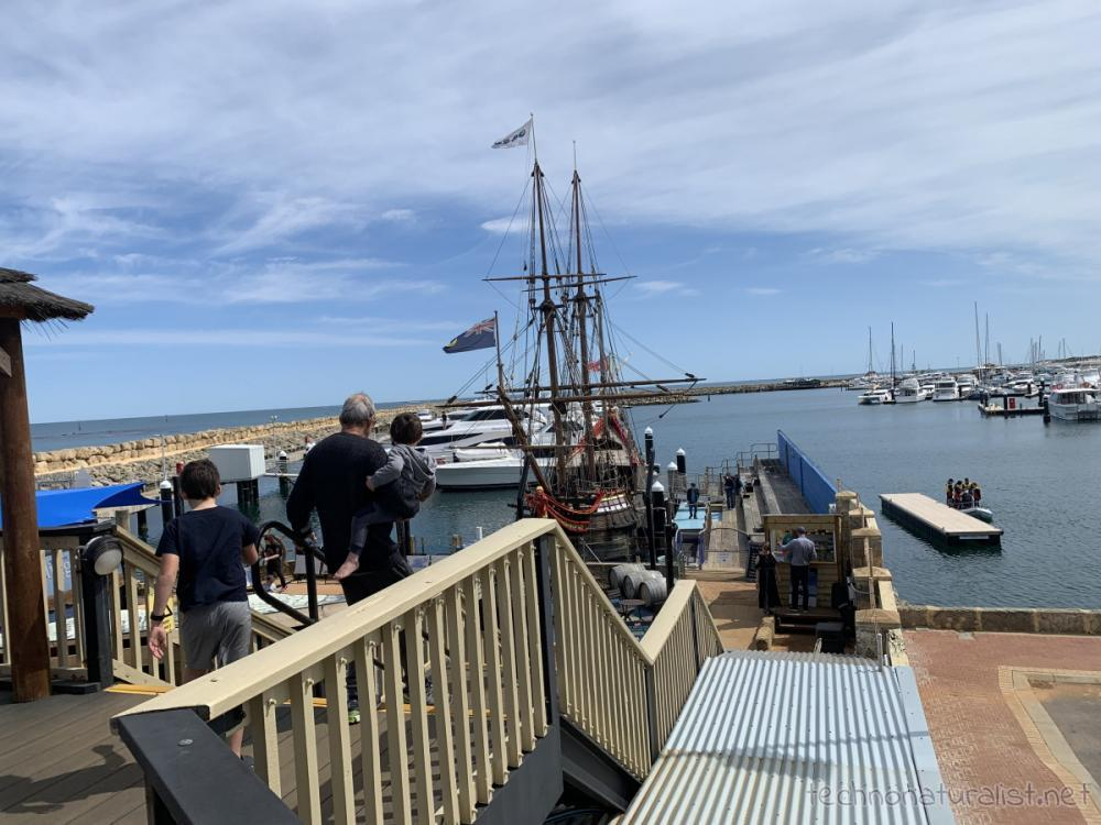 Heading over to the Duyfken replica berthed at AQWA, Western Australia