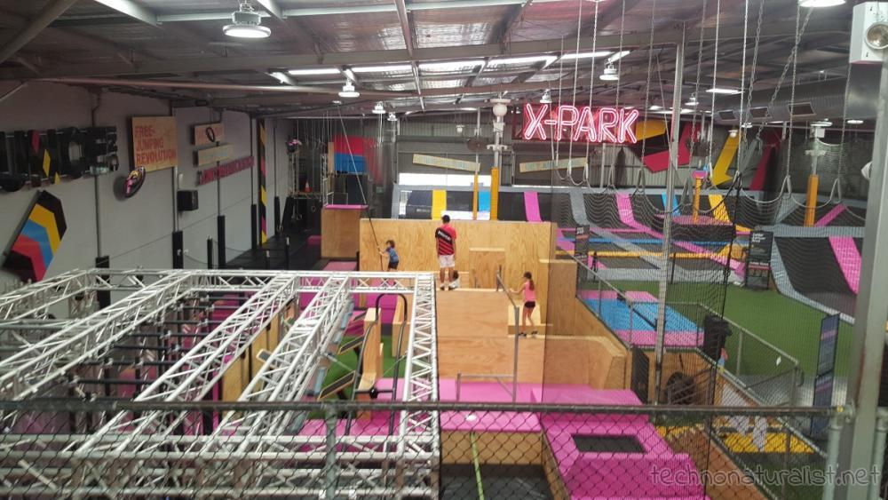 Kids doing X-Park at Bounce, Perth, Western Australia