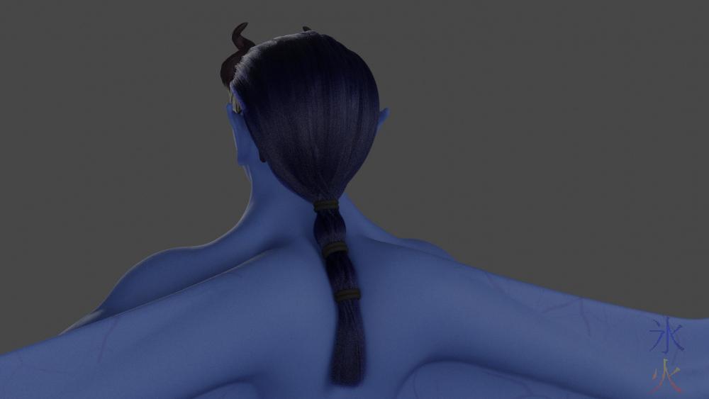 Blender 2.92 particle hair unconvincing ponytail